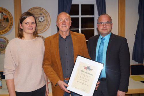 Jahreshauptversammlung 2018 Verabschiedung OSM Willi Wolf